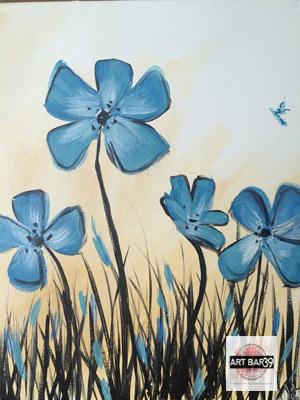 Blue Grass flowers