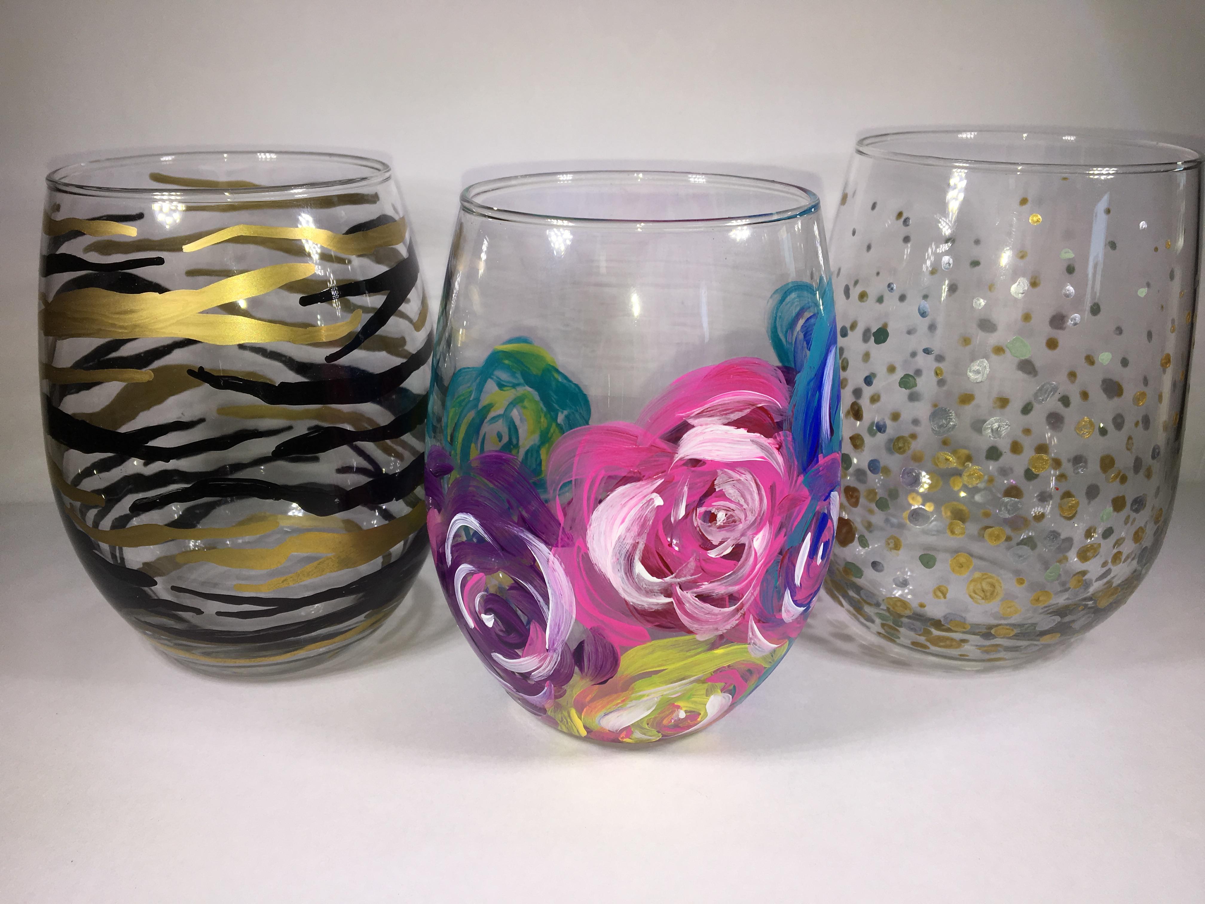 wine glass trio