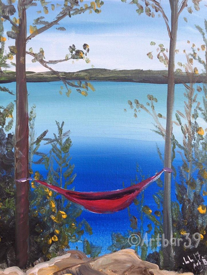 Summer Dreaming (Red Hammock)