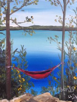 Lakeside Dreaming (Red hammock)
