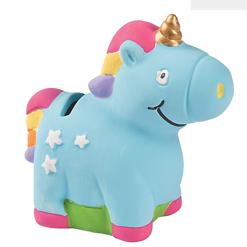 Unicorn Ceramic Paintable figurine Money Box