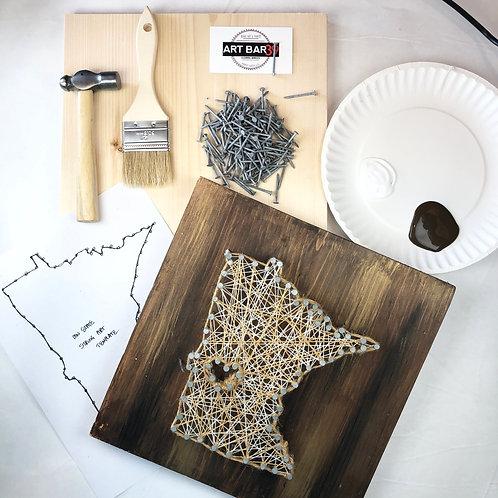 Custom COMPLETE String Art kit - MN State -