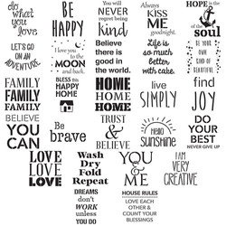 Quote Rustic Stencil Pack Options