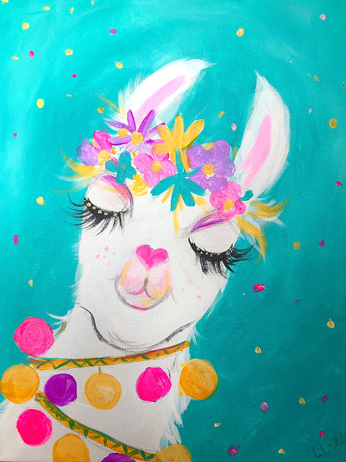 Party Llama DIY painting kit WITH BRUSHES & Step by Step instructions