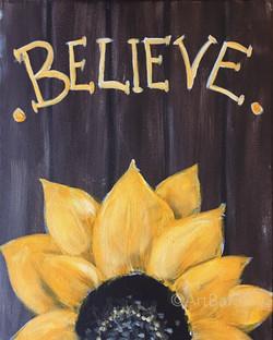 Believe sunflower