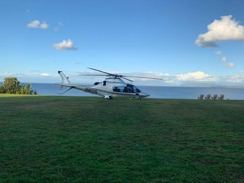 Llegada en helicóptero, Casa Molino