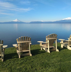 La mejor vista Lago Llanquihue y volcanes Osorno y Tronador