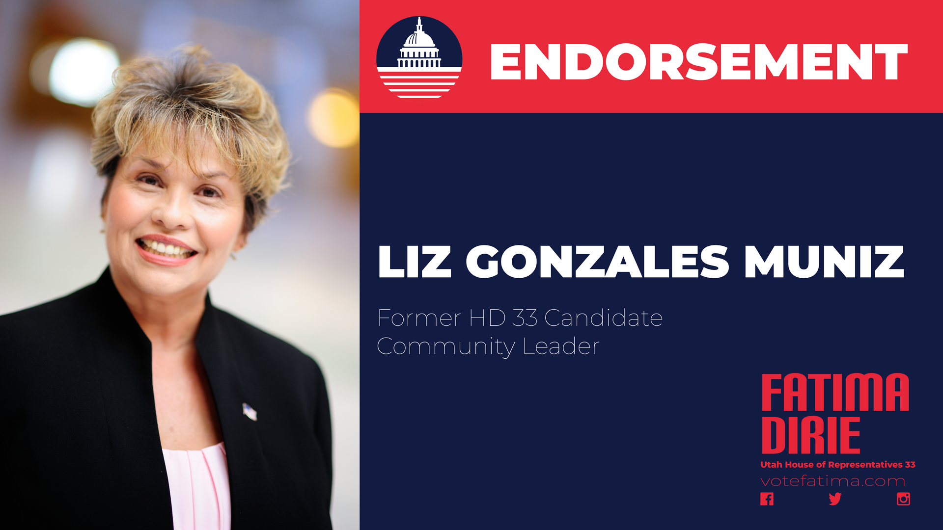 Liz Gonzales Muniz Endorsement