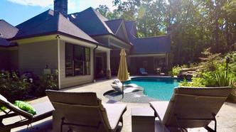 craftsman house backyard