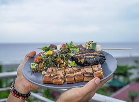 "Vegan Grilled Liempo with Bangus Belly and Ensaladang Seaweed aka ""La Union Surf n' Turf"""