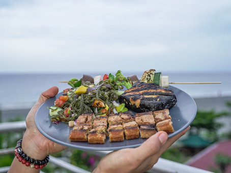 "Vegan Grilled Liempo with Bangus Belly and Ensaladang Seaweed aka ""La Union Surf n' Turf"""