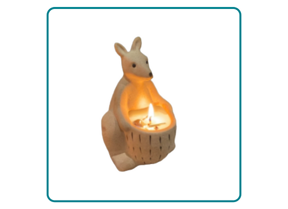 Kangaroo Candle Planter Pot