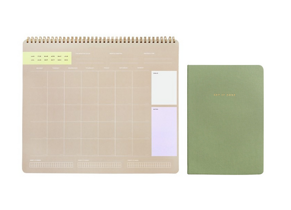 "Gift Package: ""New Beginnings"" Monthly Planner and ""Get It Done"" Notebook"