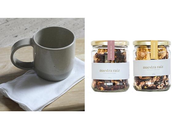 Gift Package: Handmade mug + Fruity Herbal Teas