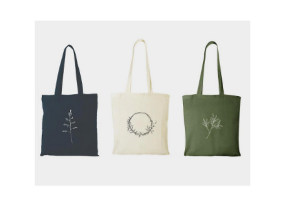Reusable Bags and Cards with Nature Illustrations