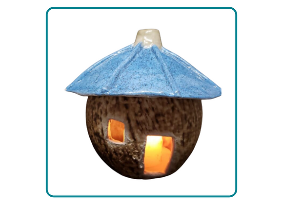 Tiki Hut Luminary Incense Burner