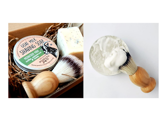 Gift Package: Shaving Soap Gift Set and Goat Milk Shaving Soap