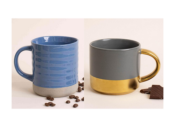 Gift Package: 2 Elegantly Crafted Mugs