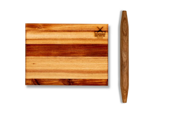 Blackwood Cutting Board and French Style Rolling Pin