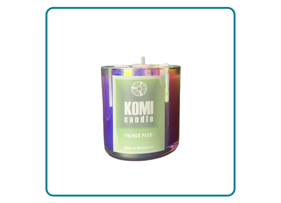 Bright Rainbow Daisy French Pear Candle