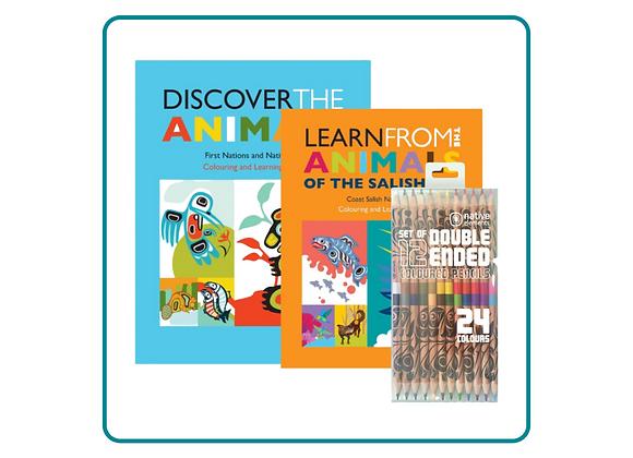 Indigenous Art Coloring Book Set