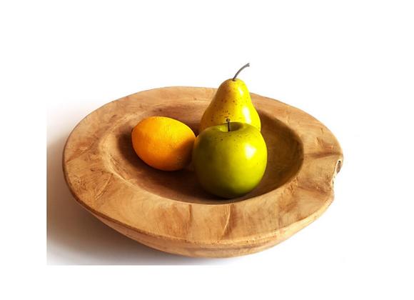 Rustic Teak Wood Bowl