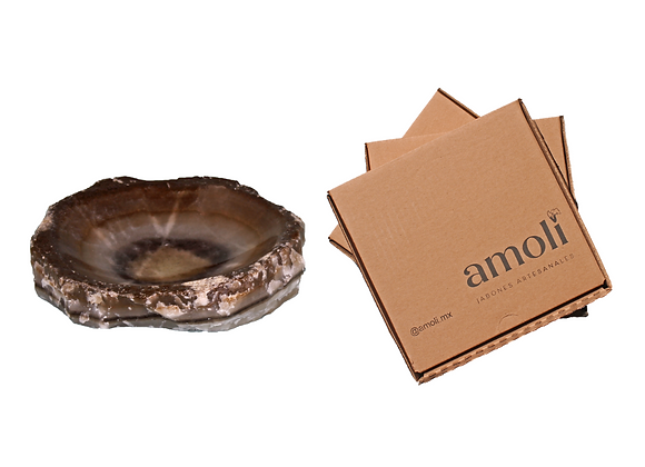 Gift Package: Handcrafted Onyx Soap Dish + 4 Artisan Soaps