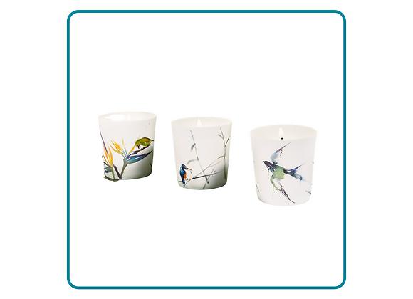 Set of Porcelain Bird Votives