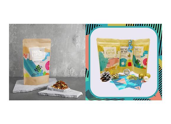 Gift Package: Tea Tasting Set and Fruit On Fire Loose Leaf Tea