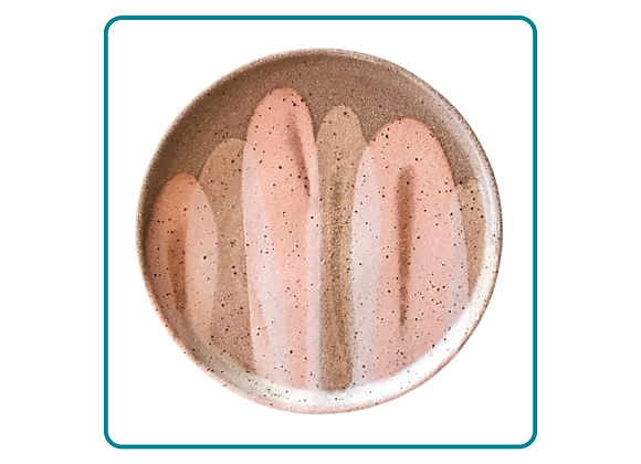 Chocolatey Brown Clay Plate