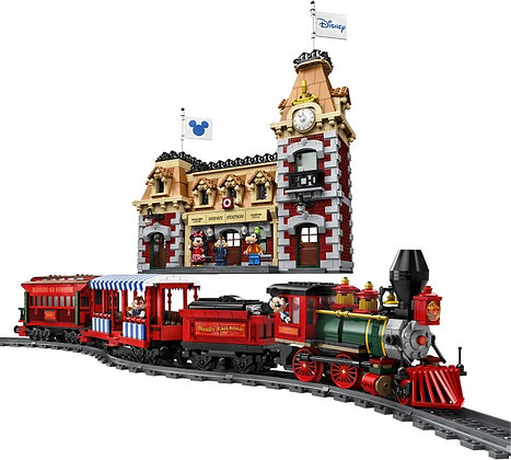 J11001 Disney Train and Station Compatible LEGO 71044