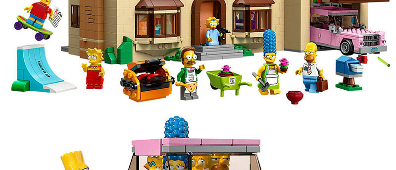 LEPIN 16005 The Simpsons House Compatible 71006
