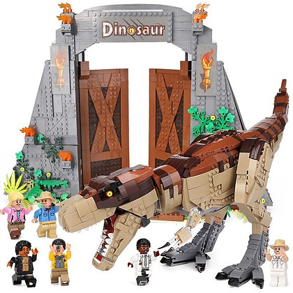 Jurassic Park: T. rex Rampage 11338 compatible lego 75936
