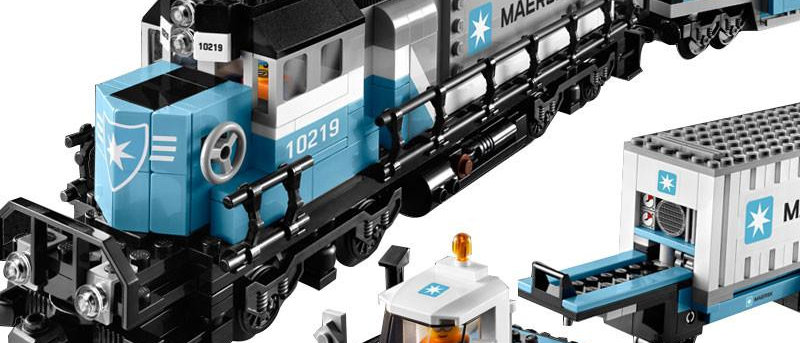 MOC Creator Maersk Train 10219 Compatible 21006
