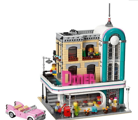LEPIN 15037 Downtown Diner LEGO 10260