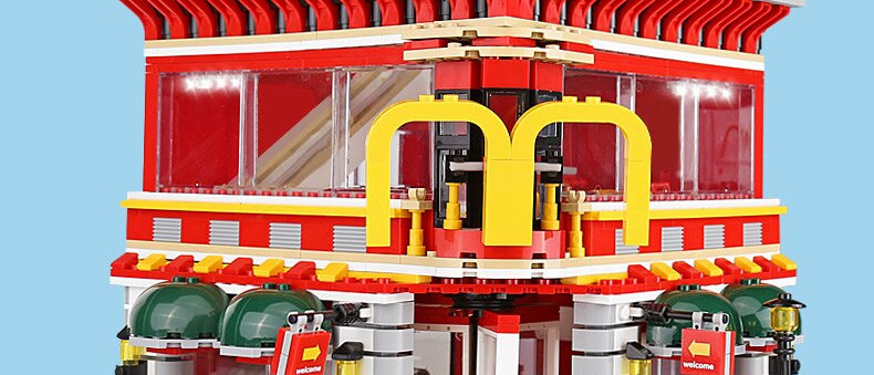 4 in 1 McDonaldss Restaurant With LED light kit SD6901
