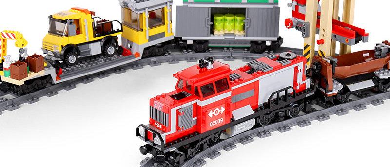 LEPIN 02039 CITY Red Cargo Train LEGO 3677