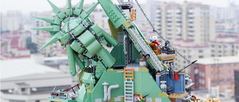 MOC Welcome to Apocalypseburg 45014 compatible LEGO 70840