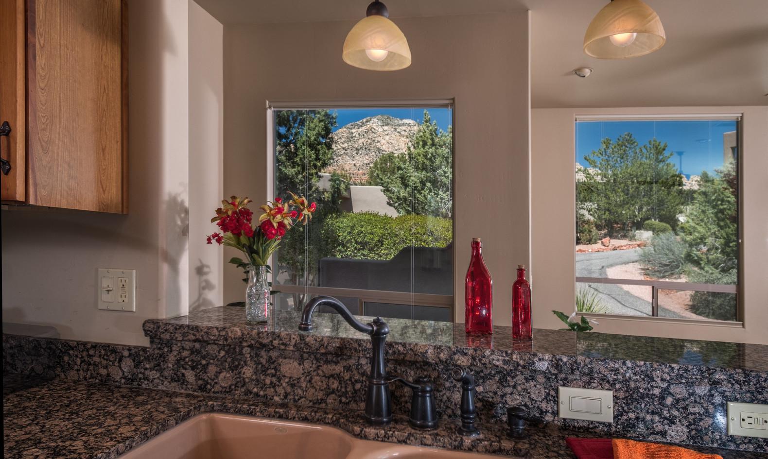 Views from kitchen sink