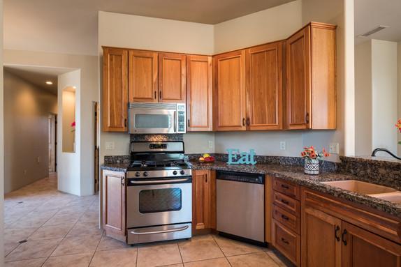Kitchen, granite counter tops