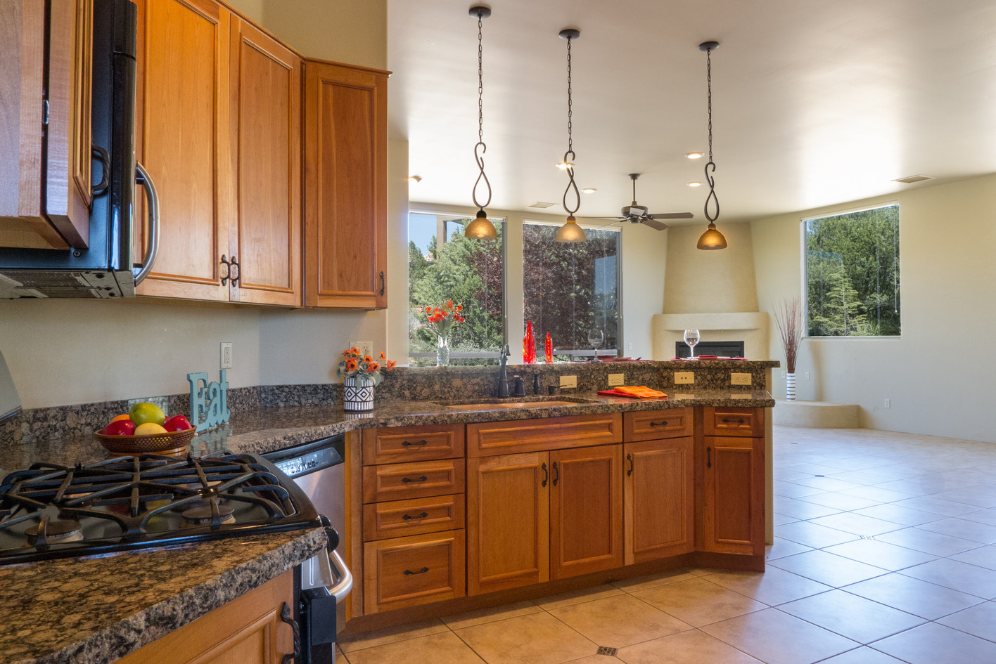 Kitchen to great room