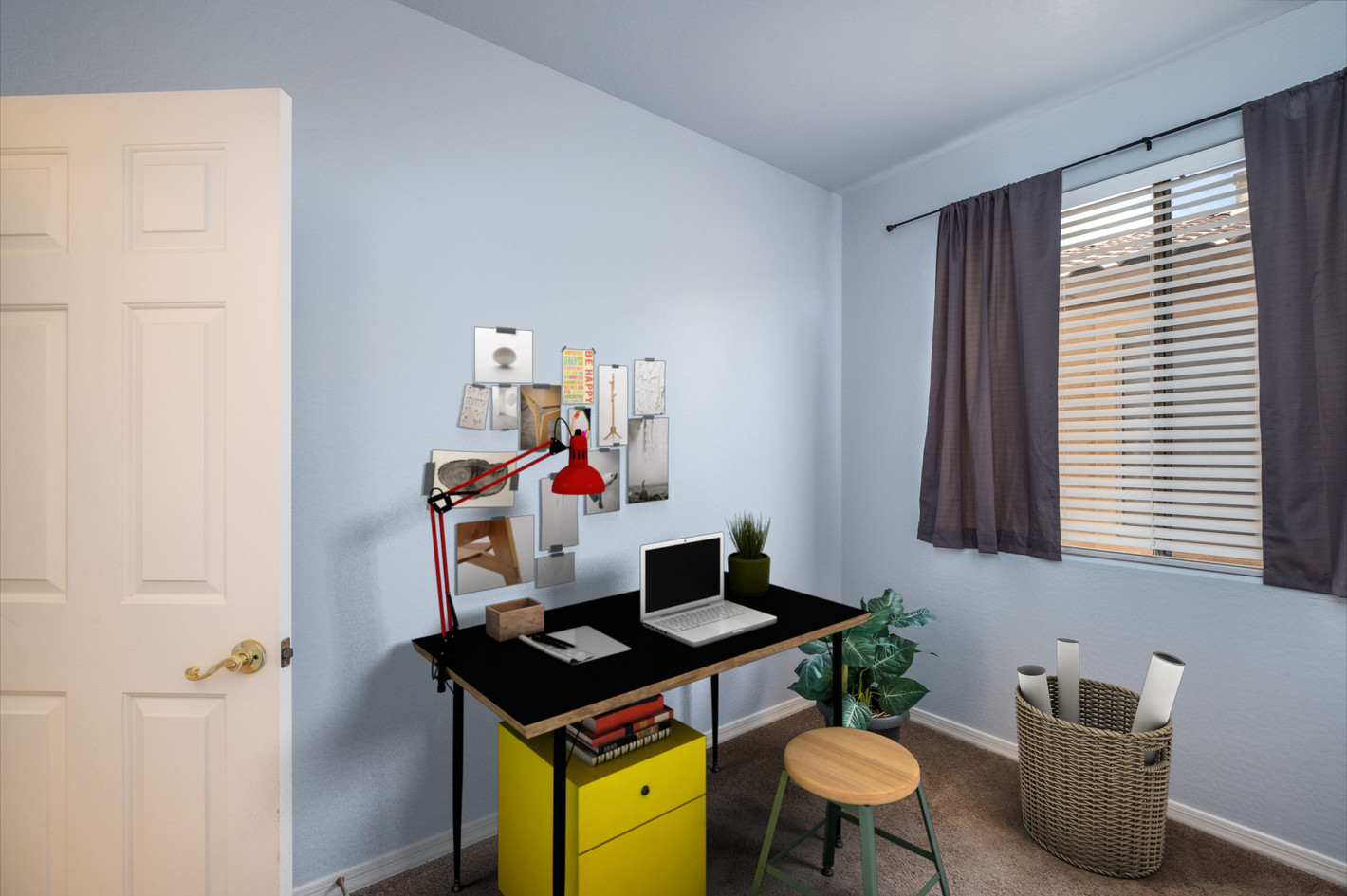 Bedroom 3/office virtually staged
