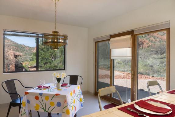 Breakfast area & door to patio