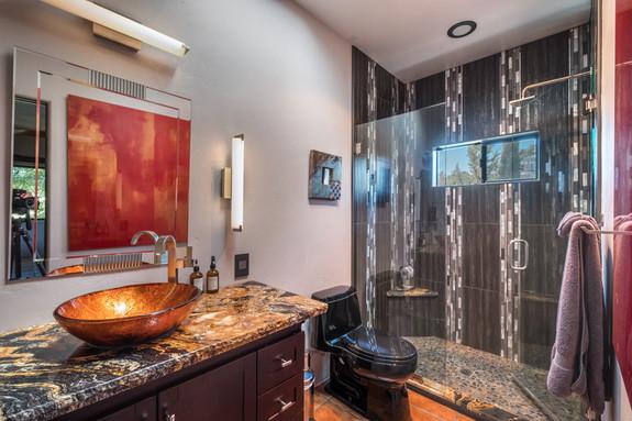 Guest Bathroom - matching granite