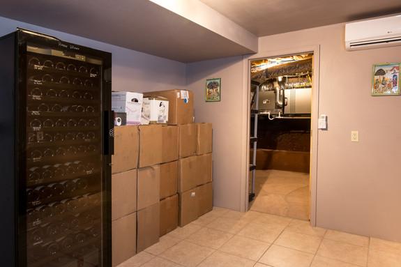 Wine room & door to storage area