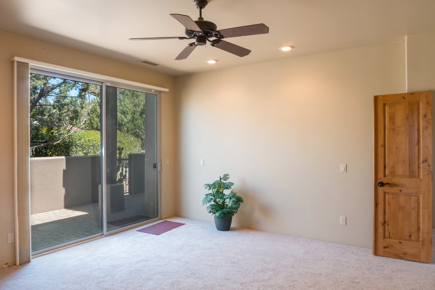 Master Bedroom, slider to courtyard
