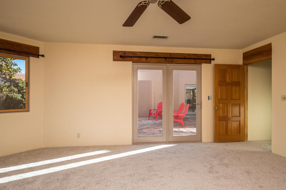 Master bedroom access to central courtyard