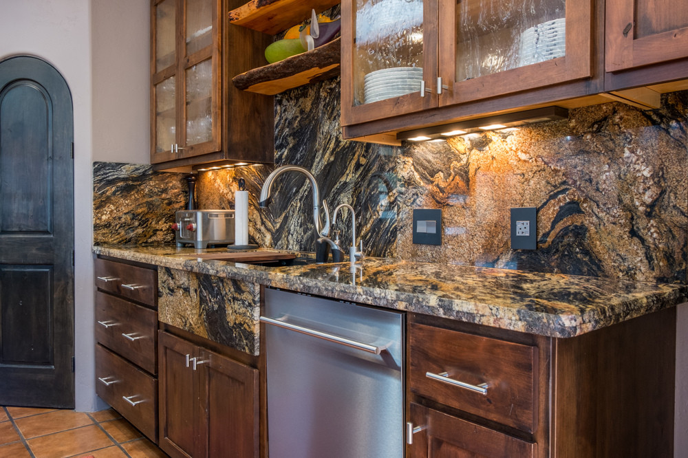 Kitchen remodeled, with matching granite throughout