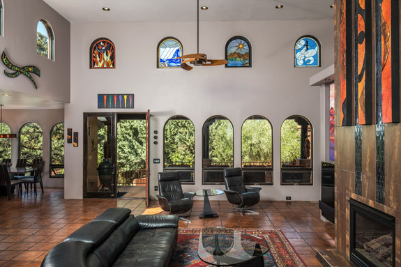 Great room, Italian tile floors throughout