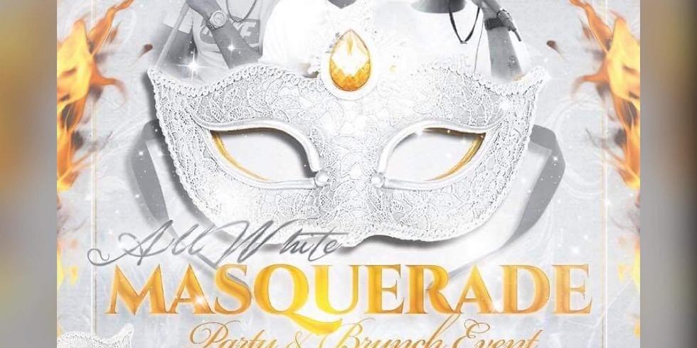 All White Masquerade